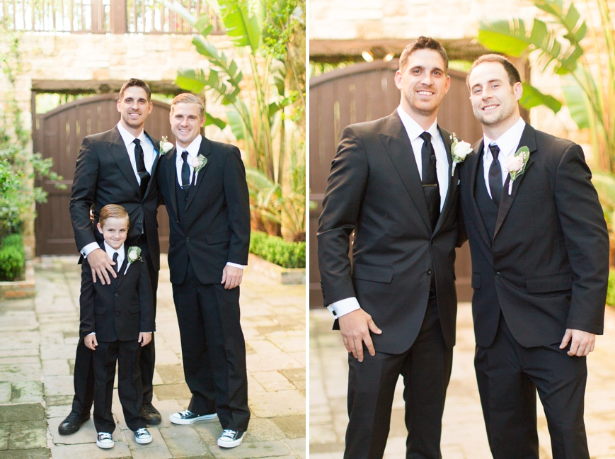 groom with groomsmen and ring bearer