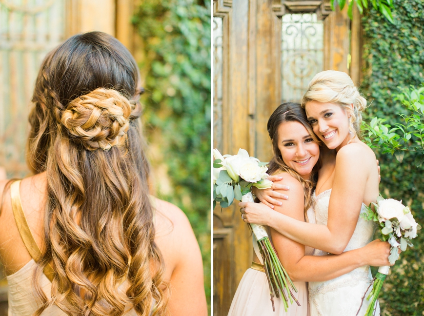 soft braided updo bridesmaid