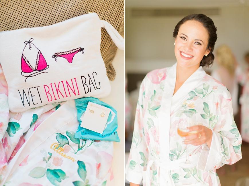 wet binkini bag floral robe bridesmaid gift