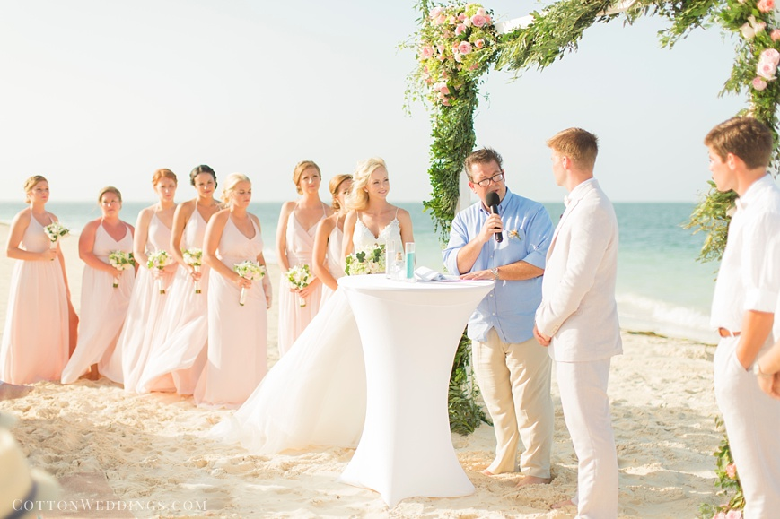beach destination wedding at the Finest Playa Mujeres