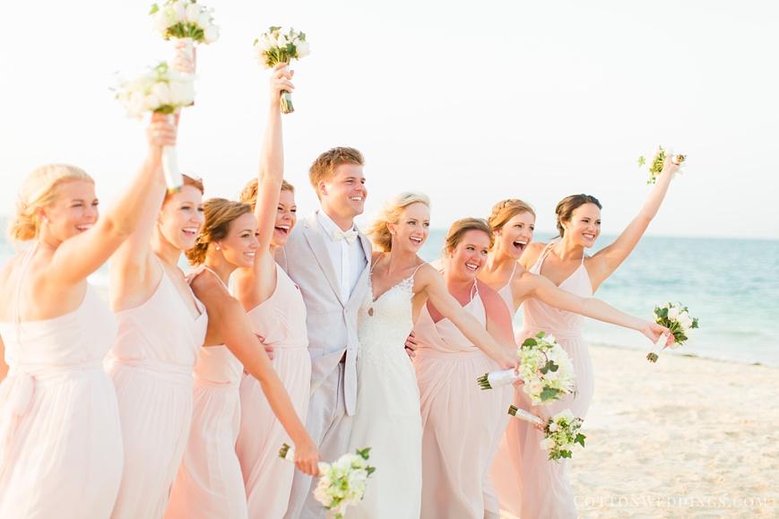 fun destination beach wedding bridal party