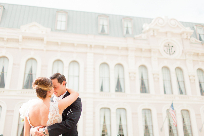tremont house galveston bride and groom first look