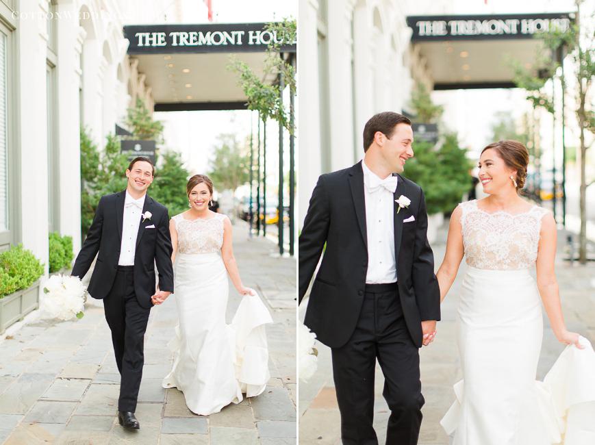 coastal inspired wedding tremont house bride and groom