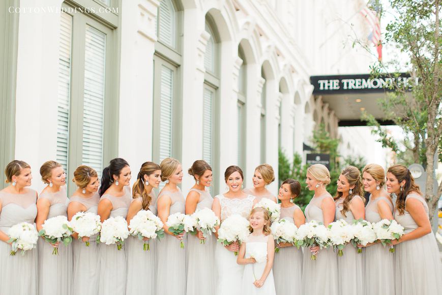 gray and white bridesmaid colors