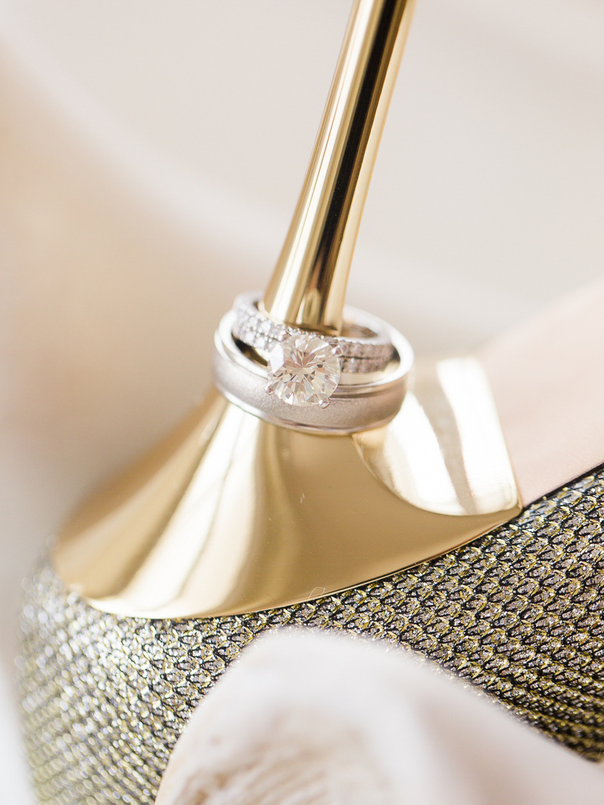 beautiful ring photo on high heel