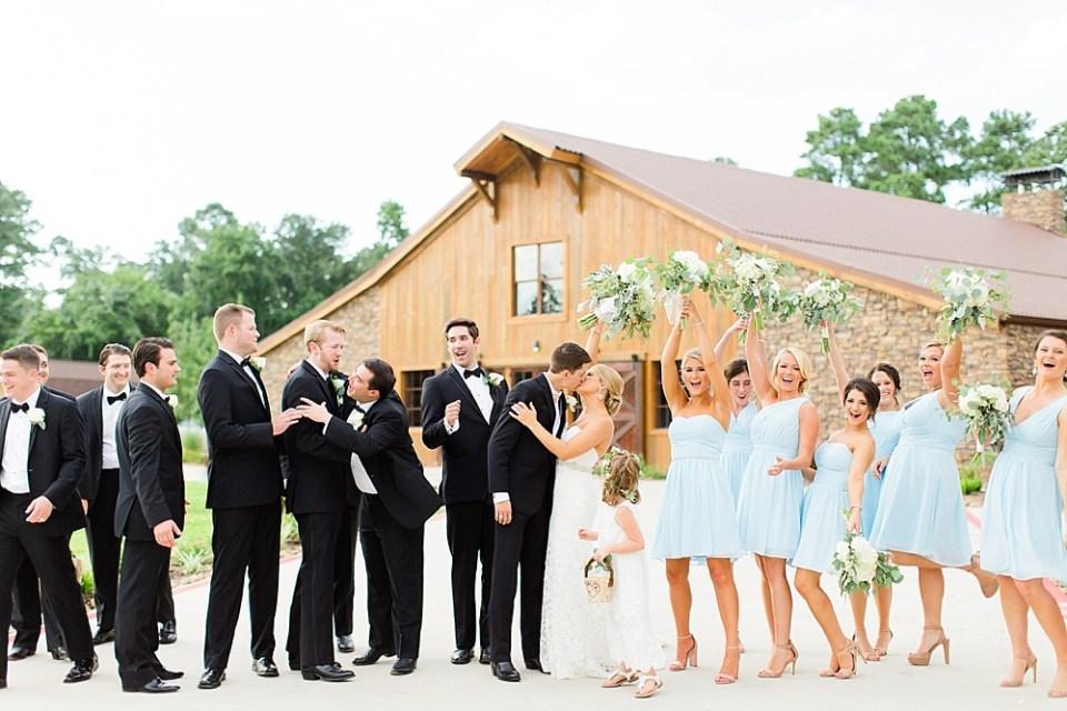 big sky barn fun wedding party