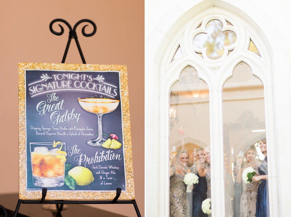 great gatsby wedding cocktail menu