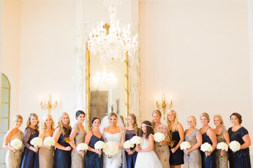 chateau cocomar wedding bridal party