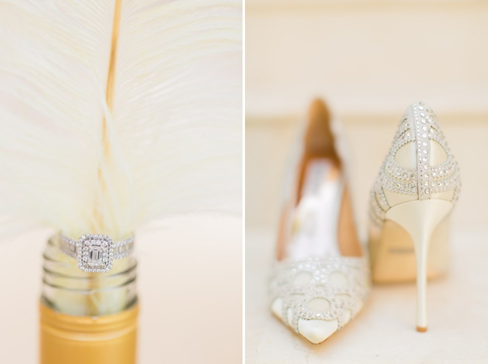 great gatsby wedding shoes feather