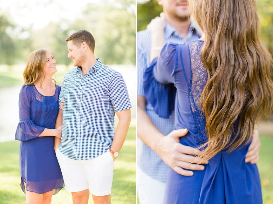 summery southern engagement session