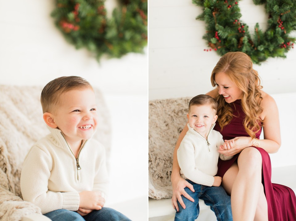 Christmas studio mini session