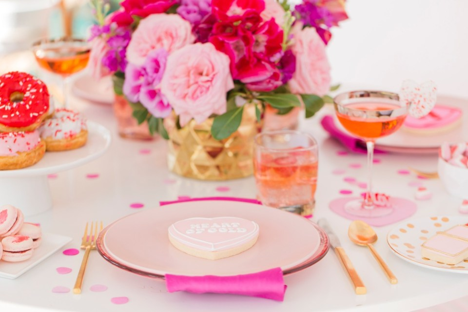 Valentine's Day Inspiration Tablescape