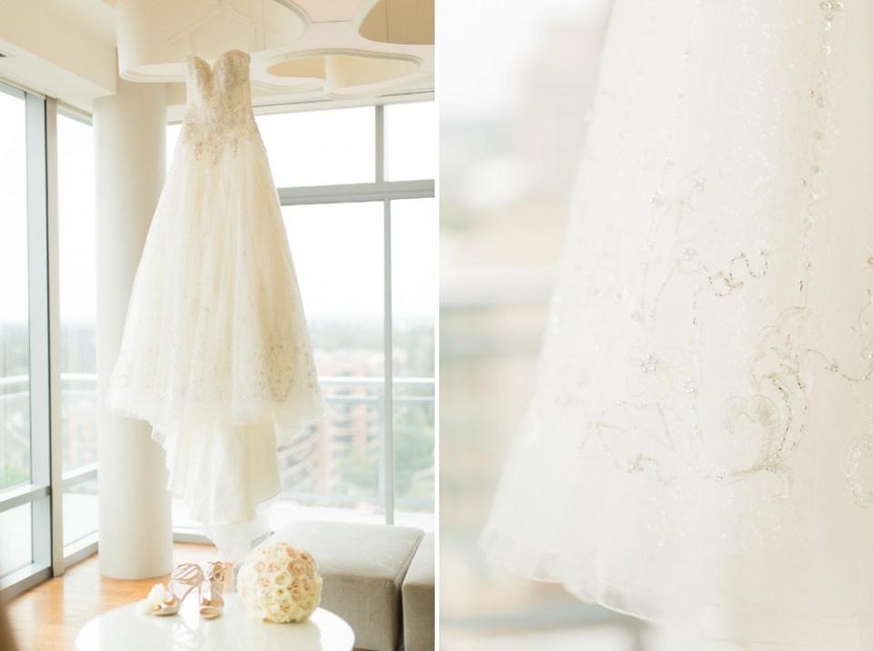 Westin Woodlands wedding bridal suite