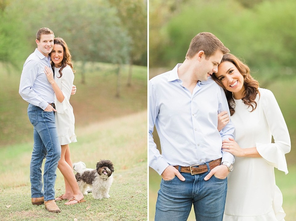 Engagement photographer in Houston