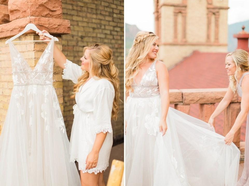 BHLDN Wedding Dress Colorado