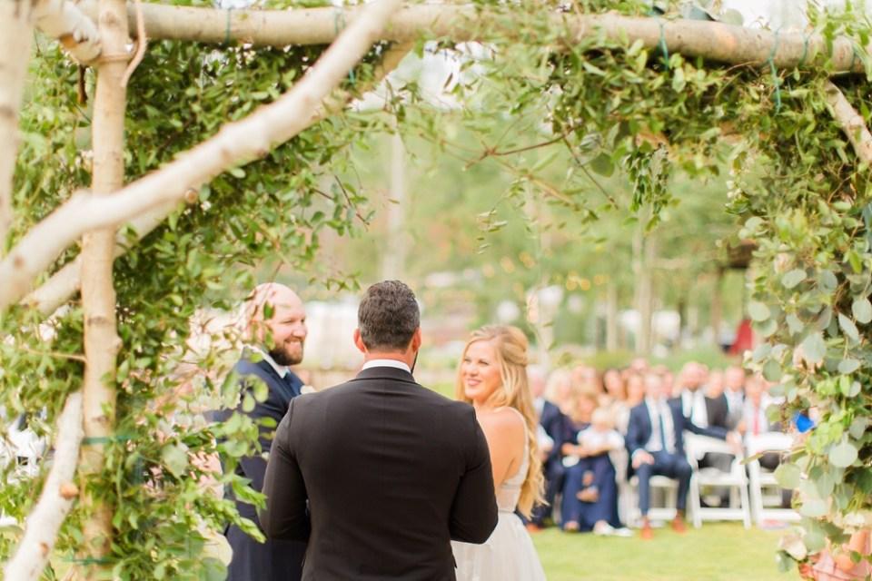 floral wedding arbor colorado