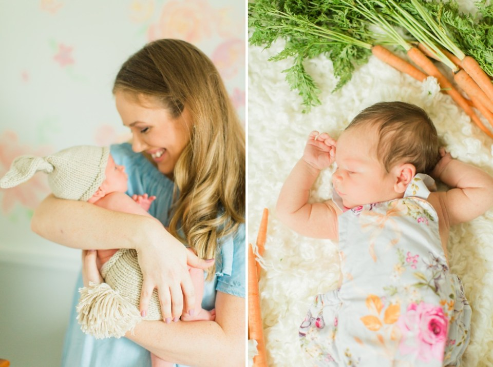 Bunny Themed Newborn Photos