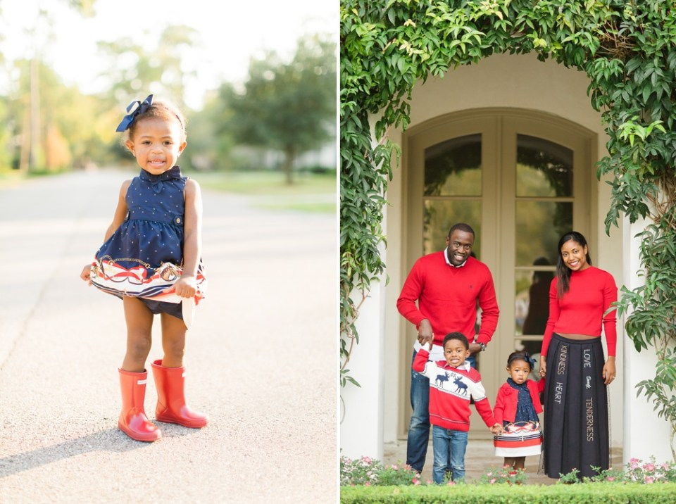 fall family photos red