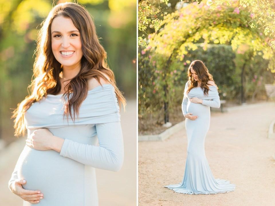 McGovern Centennial Gardens Blue Maternity Dress