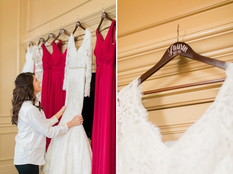 The Corinthian Wedding Dress Details by Cotton Collective