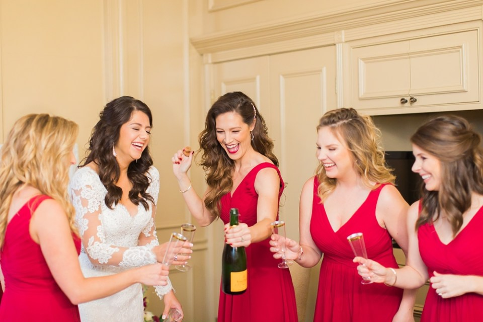 The Corinthian Wedding Bride and Bridesmaids by Cotton Collective