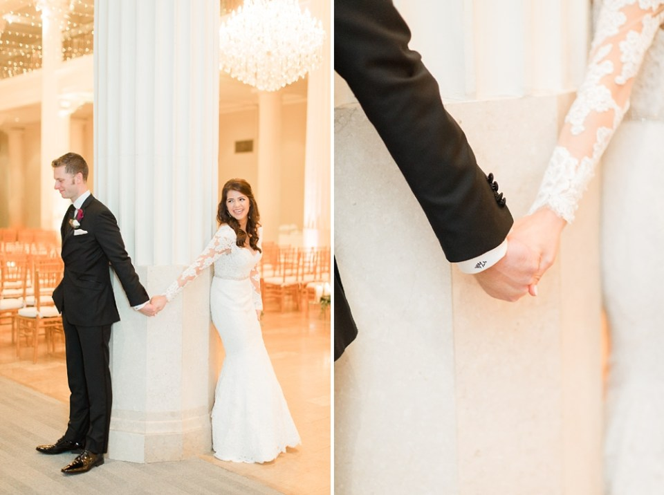 The Corinthian Wedding Bride and Groom First Touch