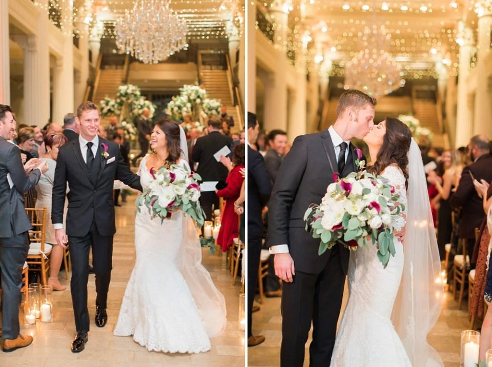 The Corinthian Wedding Bride and Groom Ceremony Exit
