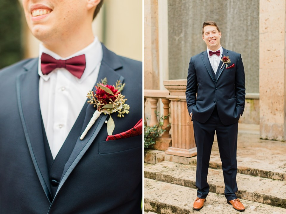 Groom outfit details