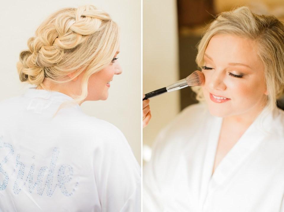 bride make up details