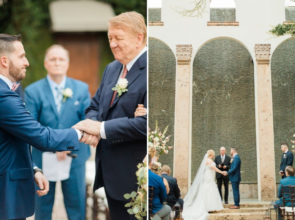 Emotion wedding at the bell tower