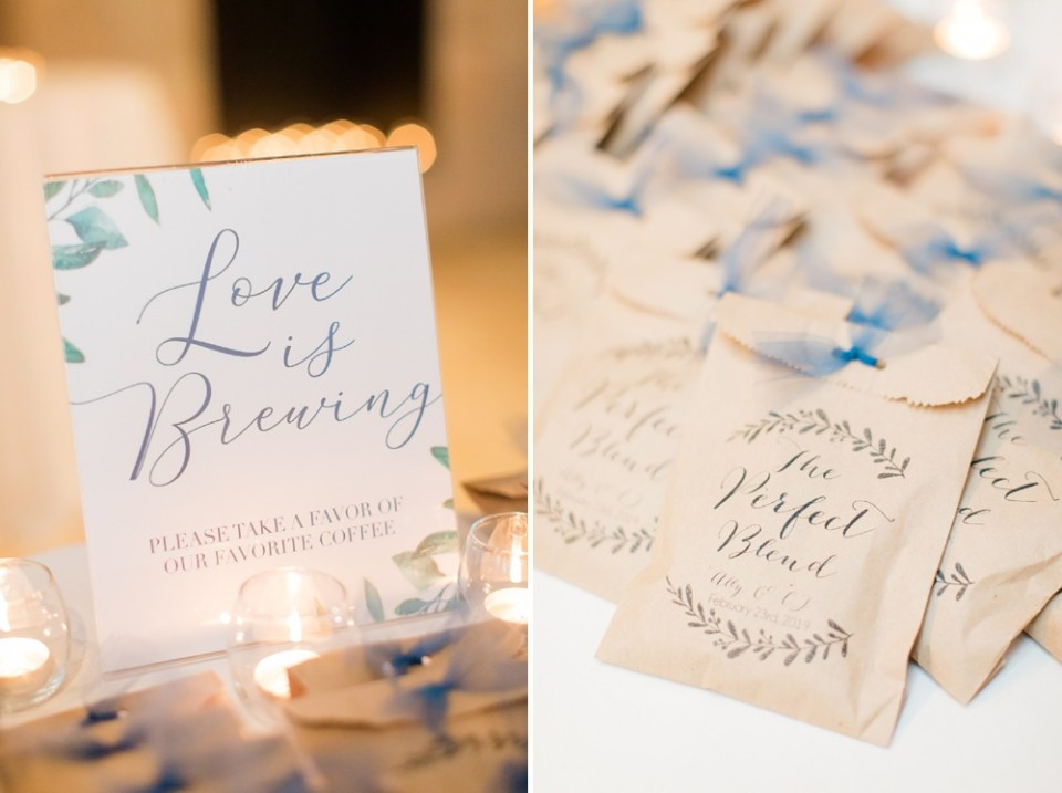 reception details at wedding