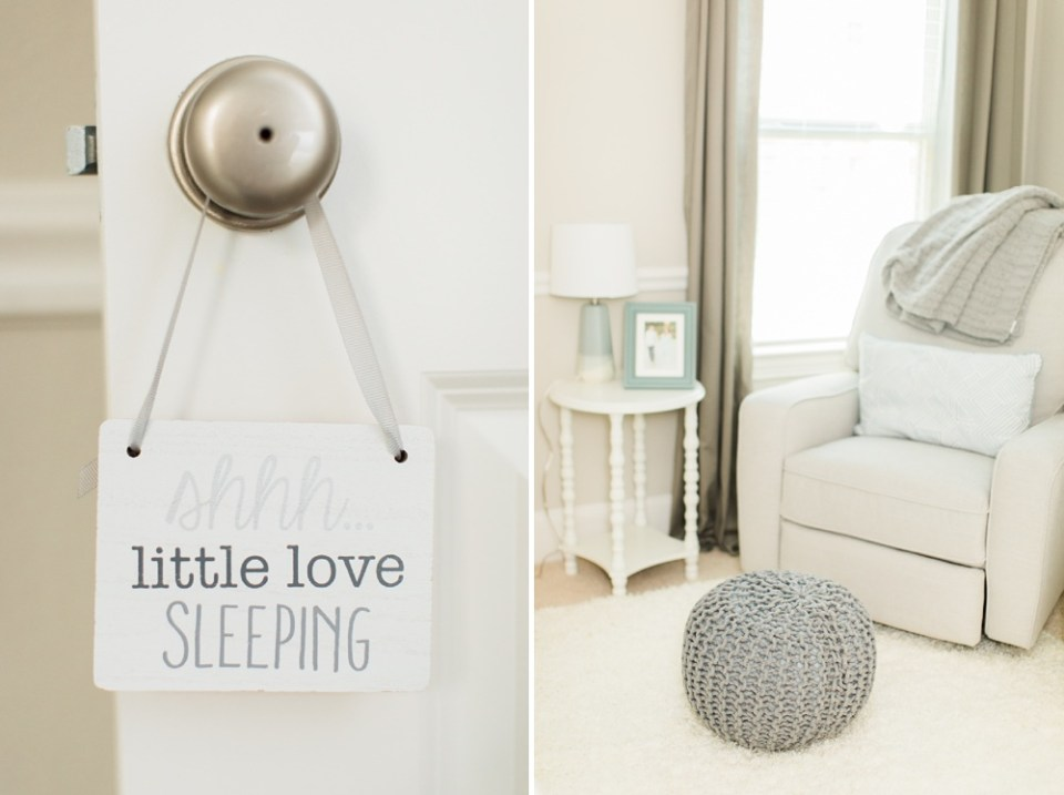 grey baby boy nursery details