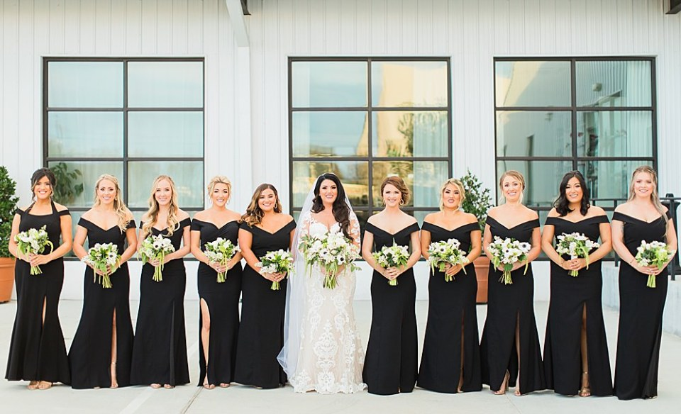 bride and bridal party photography