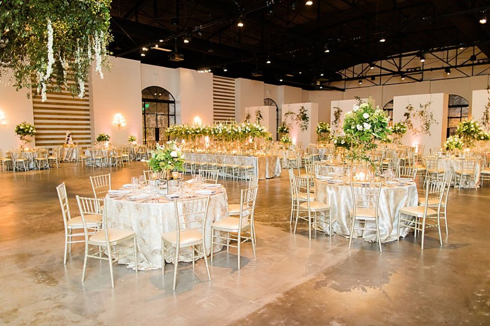 industrial wedding reception at the revaire