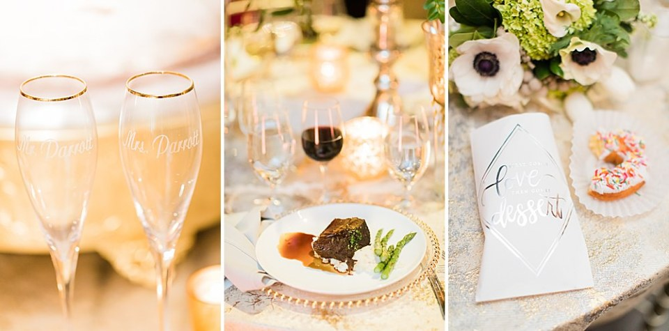 drinks and dinner wedding details