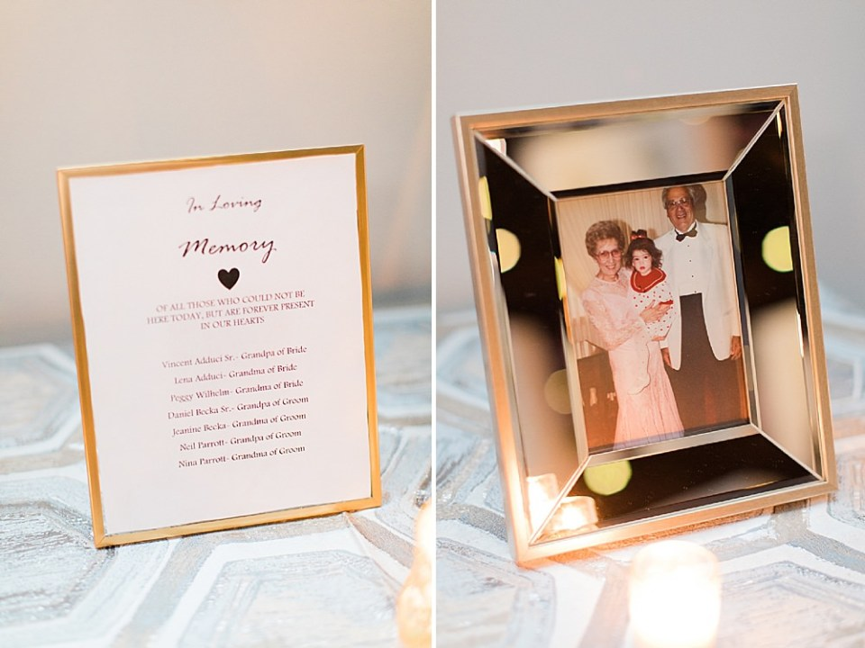 sweet wedding memories details