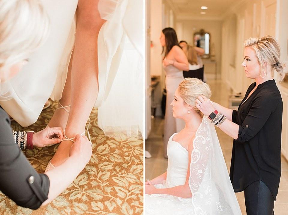 houston bride getting ready