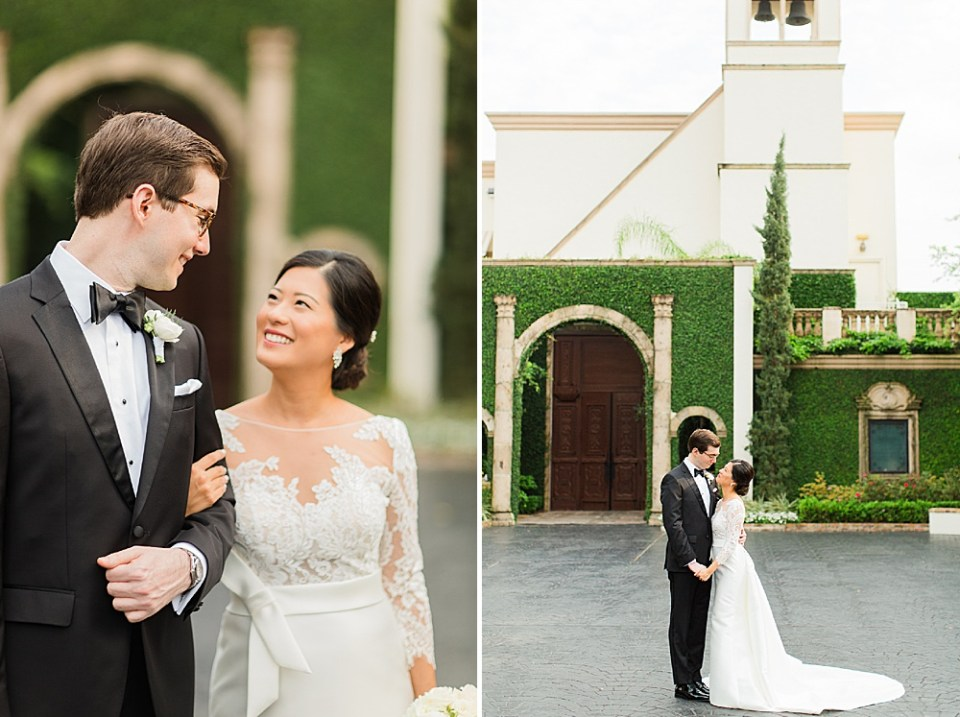 sweet houston wedding couple