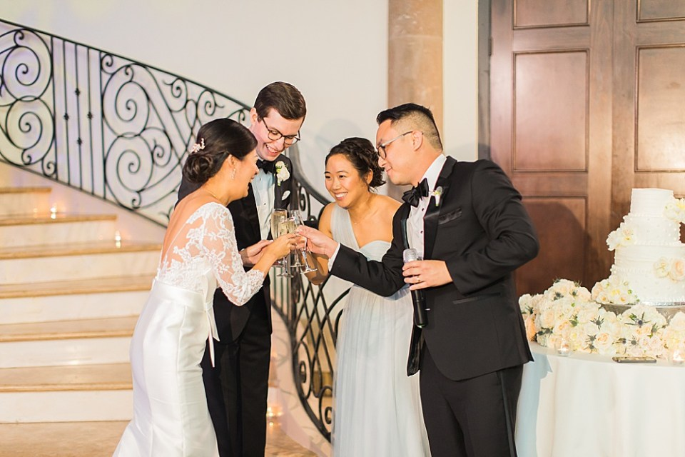 toast to bride and groom