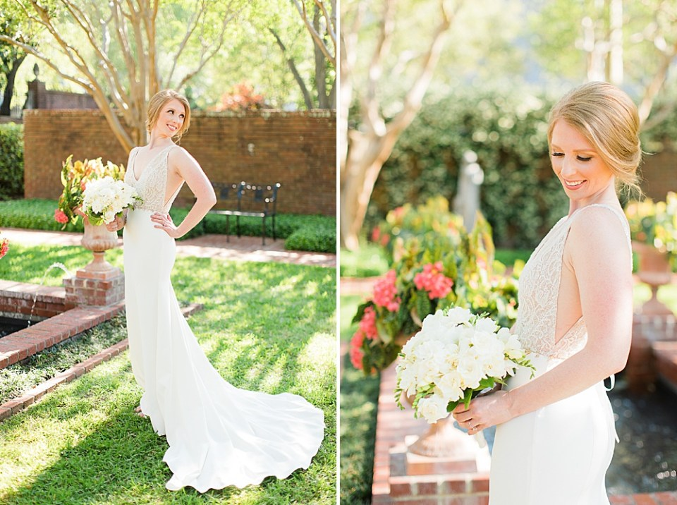 houston bride at river oaks garden club