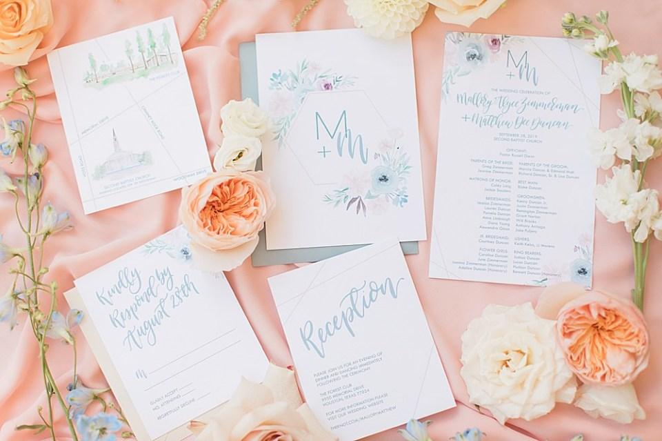 wedding detail invitations