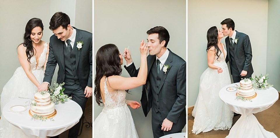 bride and groom wedding cake