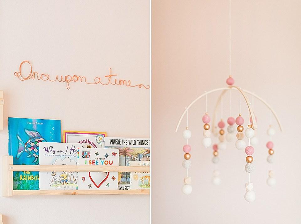 pink nursery details