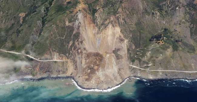 Mother Nature Erases Large Portion Of Iconic Ca Highway 1