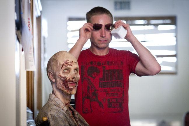 make-up effect for Walking Dead