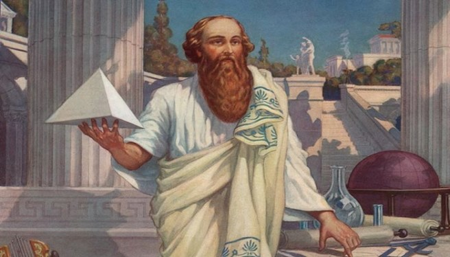 Image result for ancient greek pythagoras and snake