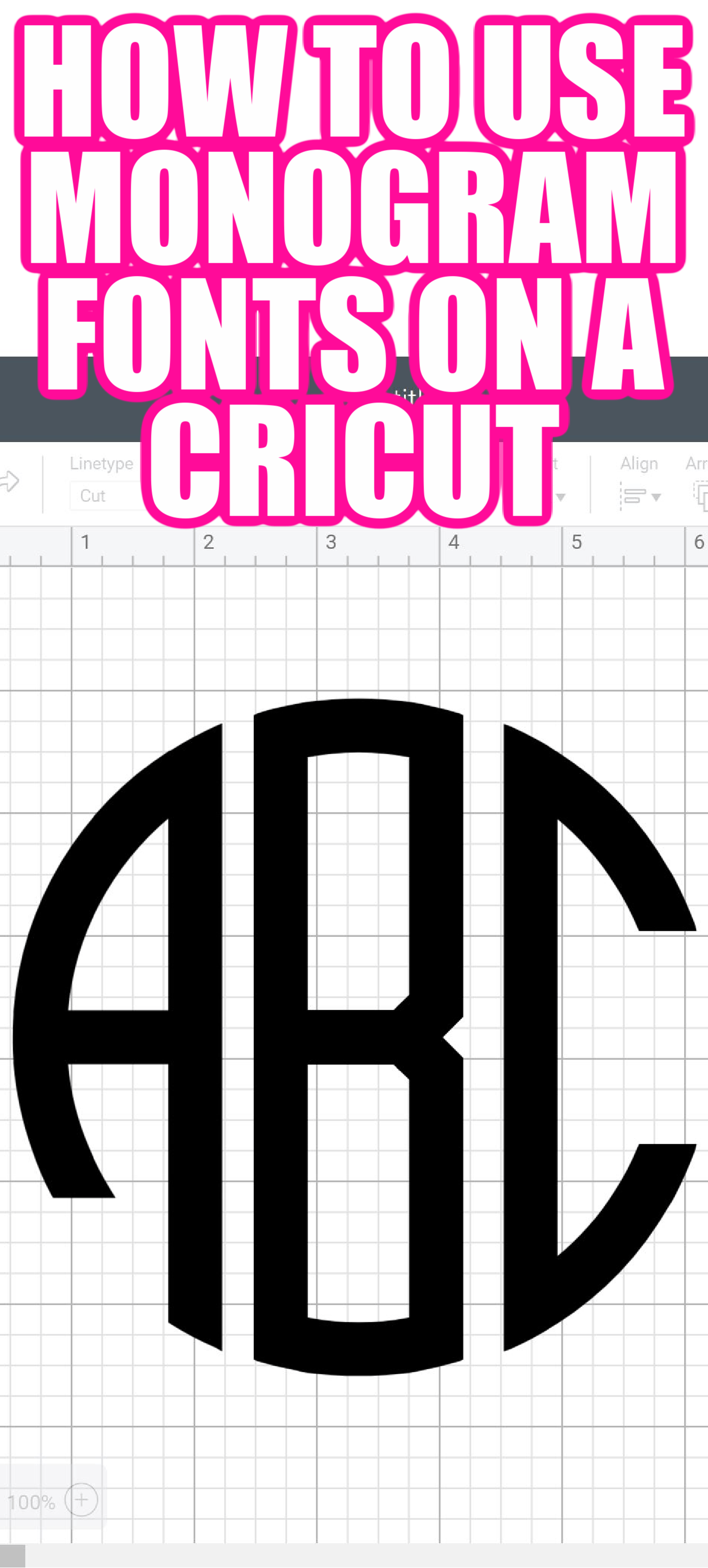 Best Font For Monogram : monogram, Monogram, Fonts, Using, Cricut, Country, Cottage
