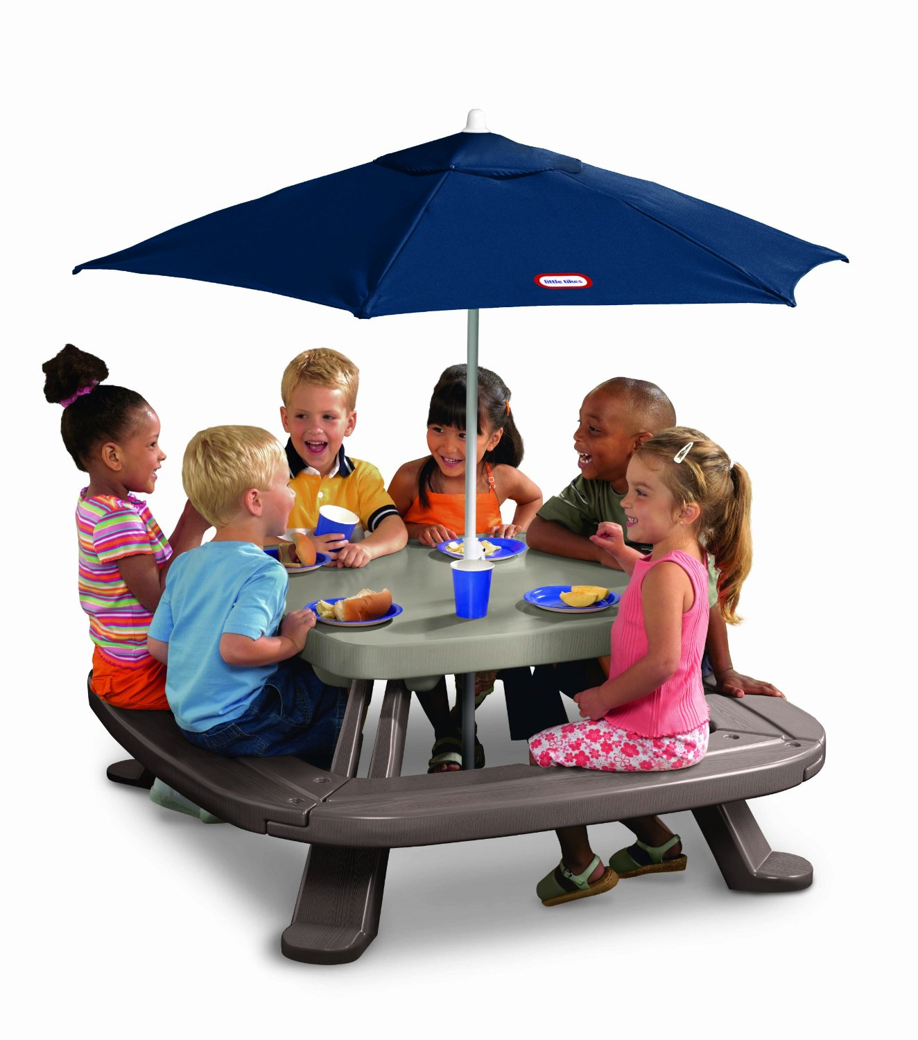 little kids table and chairs wooden child chair tikes fold n store with umbrella 79