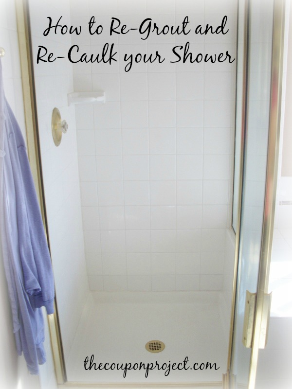 How to ReGrout and ReCaulk your Shower  you can do it