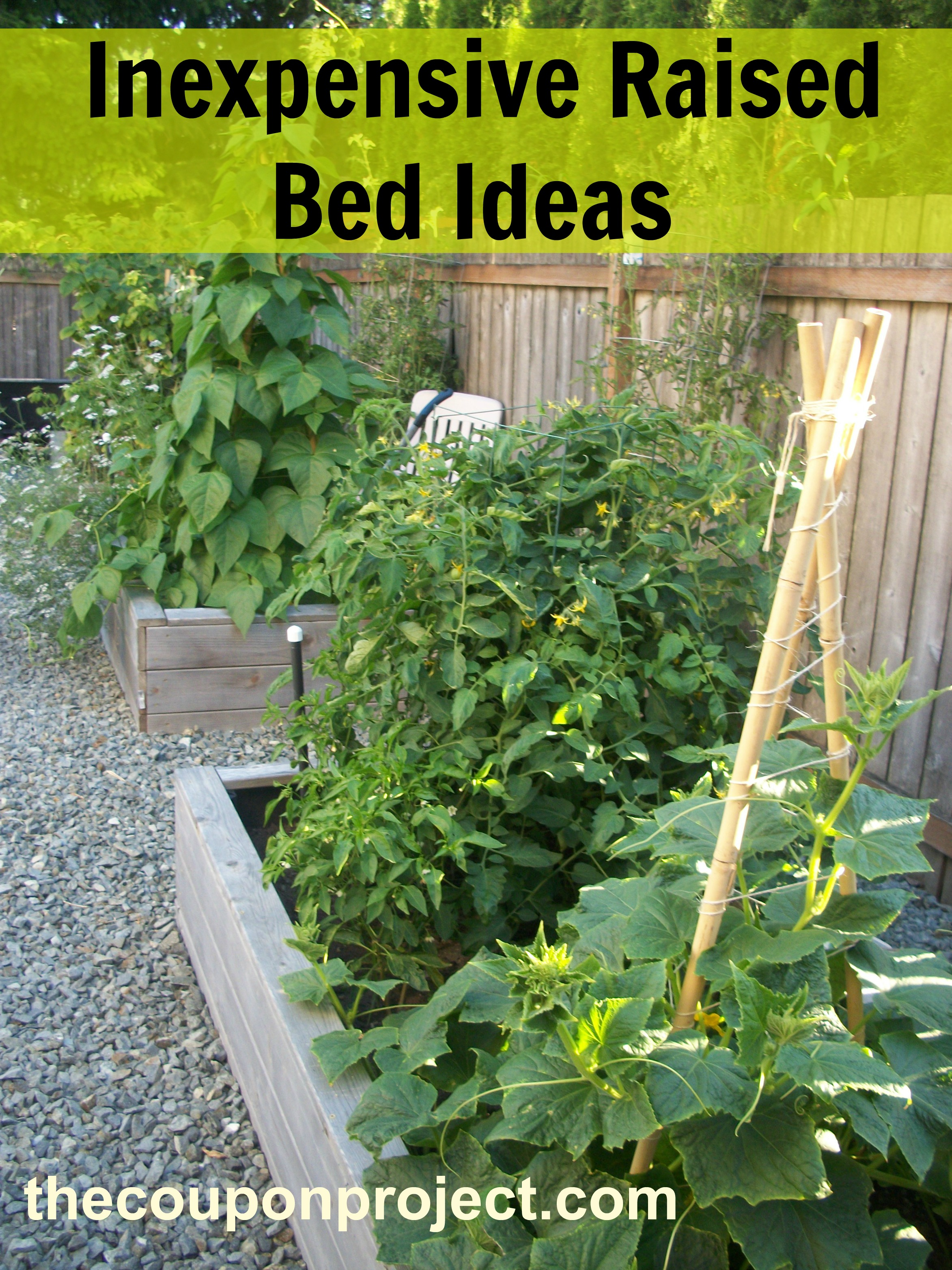 inexpensive raised garden bed ideas